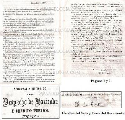 DECRETO DE 1864