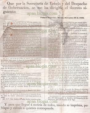 SE PROHIBE LA FABRICACIÓN Y VENTA DE TODA CLASE DE LICORES ADULTERADOS QUE SEAN NOCIVOS A LA SALUD … POR EL DECRETO DE 1863.